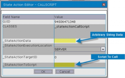 Add a Call Script State Action