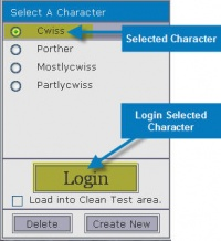 Login Selected Charager